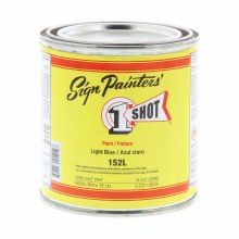 1 Shot Lettering Enamels, 8 oz., Light Blue