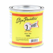 1 Shot Lettering Enamels, 8 oz., Black