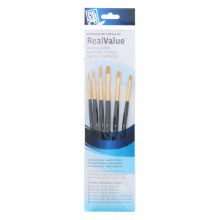 Real Value 6 Brush Golden Taklon Brush Set