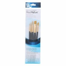 Real Value 5 Brush Golden Taklon Brush Set