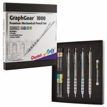 GraphGear 1000 Box Set, 4 Mechanical Pencils plus Leads