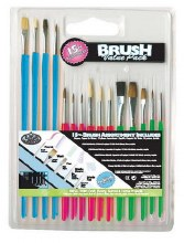 15-Piece Acrylic Handle, All Purposes Brushes