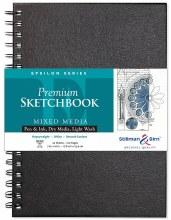 Epsilon Series Hard-Cover Sketch Books, Wire-Bound, 7 in. x 10 in.