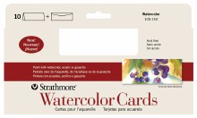 Strathmore Watercolor Cards, 3.875 in. x 9 in. - 10/Pkg.