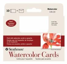 Strathmore Watercolor Cards, 3.5 in. x 4.875 in. - 10/Pkg.
