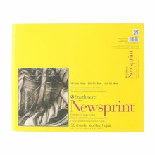 Strathmore Newsprint Paper Pads - 300 Series, Rough, 14 in. x 17 in.