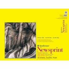 Strathmore Newsprint Paper Pads - 300 Series, Rough, 18 in. x 24 in. (100 Sheets)