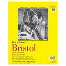 Strathmore Bristol Paper Pads - Series 300, Regular, 11 in. x 14 in. - 20 Shts./Pad