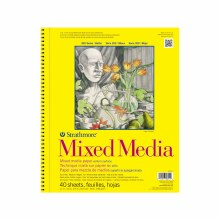 Strathmore Mixed Media Paper Pads - 300 Series, 11 in. x 14 in. - 40/Sht. Wire Bound Pad