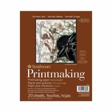 Strathmore Printmaking Heavy-weight Pads - 400 Series, 8 in. x 10 in. - 20 Shts./Pad - Glue Bound