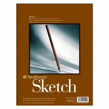 Strathmore Sketch Paper Pads - 400 Series, 9 in. x 12 - 100/Shts. - Wire Bound Pad