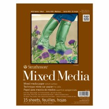 Strathmore Mixed Media Paper Pads - 400 Series, 9 in. x 12 in. - 15/Sht. Glue Bound Pad