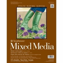 Strathmore Mixed Media Paper Pads - 400 Series, 11 in. x 14 in. - 15/Sht. Glue Bound Pad