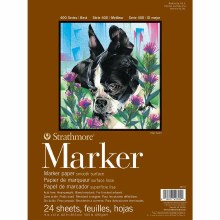 Strathmore Marker Paper Pads - 400 Series, 9 in. x 12 in. - 24/Sht. Glue Bound Pad