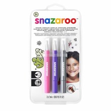 Face Painting Brush Pen Sets, Fantasy Set - Silver, Pink & Purple