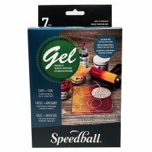 Akua Gel Printing Kit, Speedball Akua Gel Printing Kit - 5 in. x 5 in. Plate plus Supplies
