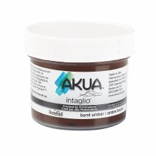 Akua Intaglio Ink, 2 oz. Jars, Burnt Umber