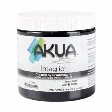 Akua Intaglio Ink, 8 oz. Jars, Lamp Black