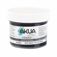 Akua Intaglio Ink, 2 oz. Jars, Lamp Black
