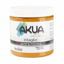 Akua Intaglio Ink, 8 oz. Jars, Yellow Ochre