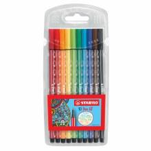 Pen 68 Marker Wallet Sets, 10 Color Set - Wallet.