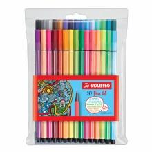 Pen 68 Marker Wallet Sets, 30-Color Wallet Set
