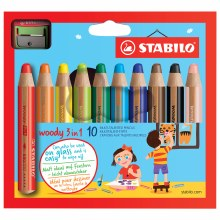 STABILO Woody 3 in 1, Set of 10