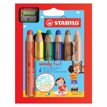 STABILO Woody 3 in 1, Sets, 6-Color Set