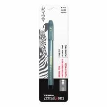 Zensations Brush Pens, Single-Ended Fine, Black