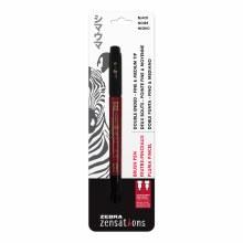 Zensations Brush Pens, Double-Ended - Fine and Medium, Black