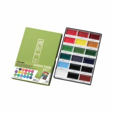 Gansai Tambi Watercolor Sets, 18-Color Set