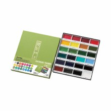 Gansai Tambi Watercolor Sets, 24-Color Set