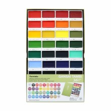 Gansai Tambi Watercolor Sets, 36-Color Set