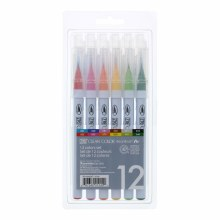 Clean Color Real Brush Marker Sets, 12-Color Set