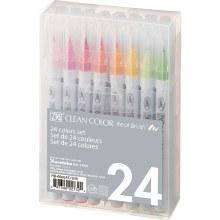 Clean Color Real Brush Marker Sets, 24-Color Set