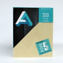 "Wood Panel Value Packs, 8"" x 10"" - Studio Profile, 5/Pkg."