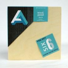 "Wood Panel Value Packs, 8"" x 8"" - Studio Profile. 6/Pkg."
