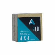 "Wood Panel Value Packs, 4"" x 4"", 5mm Profile - 10/Pkg."