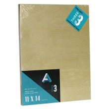 "Wood Panel Value Packs, 11"" x 14"", 5mm Profile - 3/Pkg."