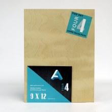 "Wood Panel Value Packs, 9"" x 12"", 5mm Profile - 4/Pkg."