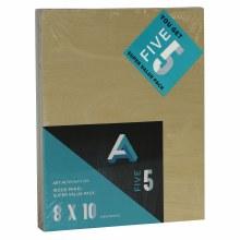 "Wood Panel Value Packs, 8"" x 10"", 5mm Profile - 5/Pkg."
