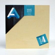 "Wood Panel Value Packs, 12"" x 12"" - Studio Profile, 4/Pkg."