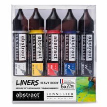 Abstract Liner Set, 5-Color Primary Colors Set