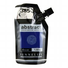 Abstract Acrylics, High Gloss, Primary Blue - Pouch Bag
