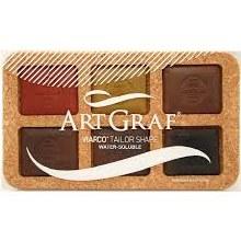ArtGraf Tailor Shape Pigment Discs Sets, ArtGraf Earth Tones Pigment Discs Set