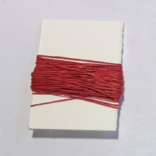 Waxed Linen Binder's Thread, Red
