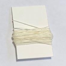 Waxed Linen Binder's Thread, White