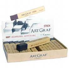 ArtGraf Water-Soluble Graphite Sticks, Water-Soluble Graphite Sticks - 2/Pkg.
