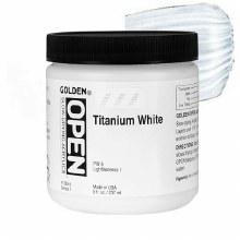 Golden OPEN Acrylics, 8 oz Jars, Titanium White