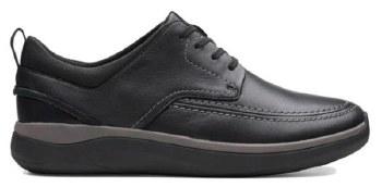 Clarks Garratt Street Black Leather